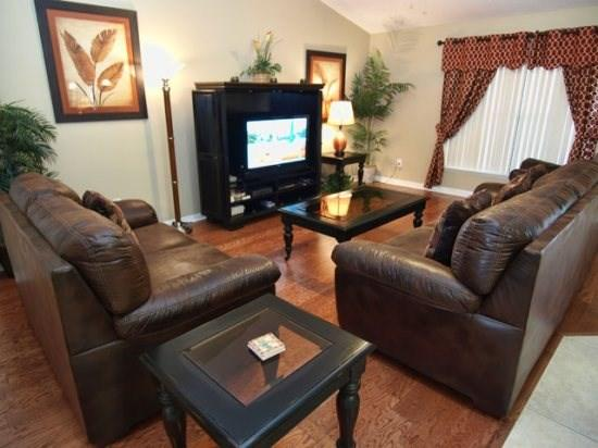 View of Living Area with Flat Screen TV - LP5P217WC 5BR High Living Pool Home with a View - Orlando - rentals