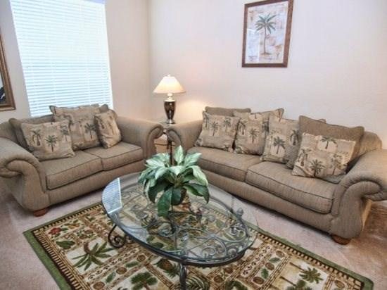 Living Area  - VC3T5003TC-50 3 Bedroom Luxury Town Home with Amenities Galore - Orlando - rentals