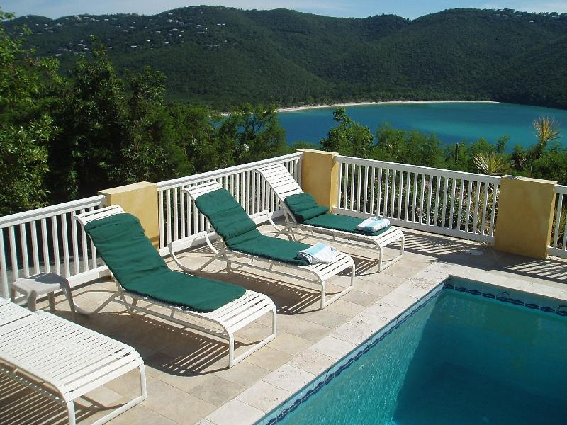 View of Magen's Bay from the Pool - Sea Dreams St Thomas Villa near beach with pool - Charlotte Amalie - rentals