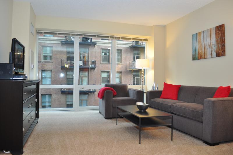 One Bedroom Living Area - MODERN LOOP APARTMENTS FURNISHED FULL KITCHEN IN-U - Chicago - rentals