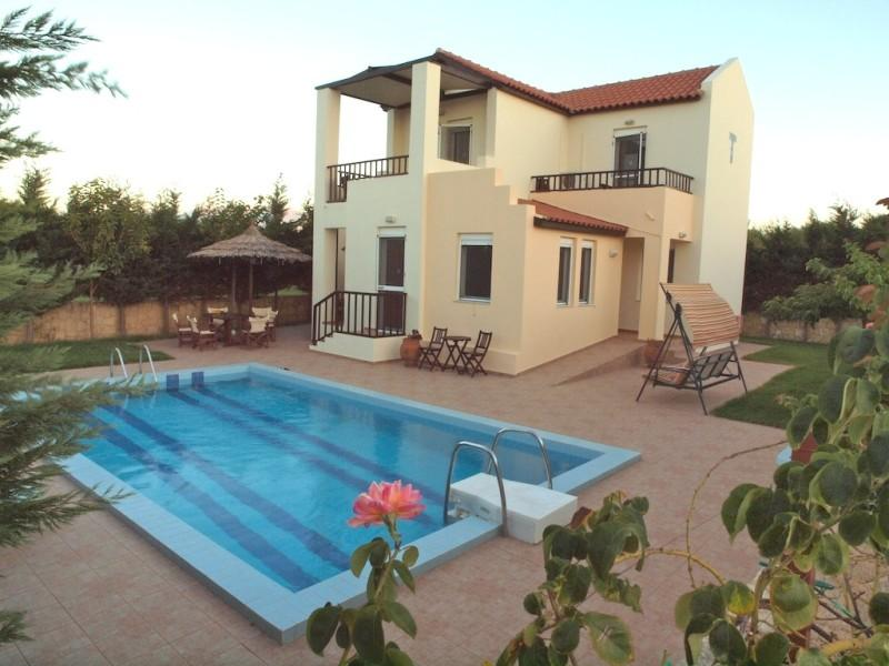 Greek Island Villa with a Private Pool - Villa Chrysanthe - Image 1 - Maleme - rentals