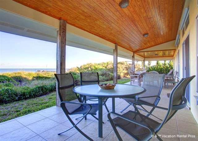 Feel the breeze drift right up from Crescent Beach! - Crescent Moon Villa, 4 Bedrooms Ocean Front home, 4 Bedrooms - Saint Augustine - rentals