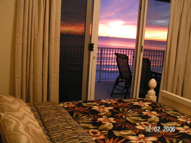 Master Bedroom, catch the sunset and great ocean and beach view while snuggling in comfy king bed. - OCEAN VILLA  #505 *New Carpet* Beach Chairs & WiFi - Panama City Beach - rentals