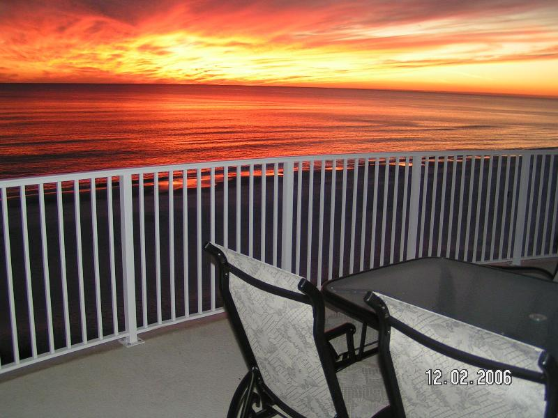 Sunsets are the best at the beach!  Great big balconies help insure you can enjoy them year round. - OCEAN VILLA *  Beach Service & Wi-Fi - Panama City Beach - rentals