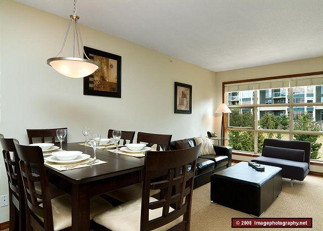 Dining Area - Aspens #549, Top Floor 2 Bdrm, Ski in Ski out, Mountain View, Free Wifi, BBQ - Whistler - rentals