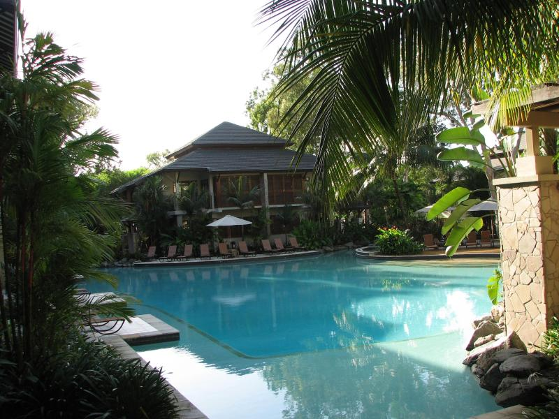 Sea Temple's stunning lagoon pool, our apartment 301 is on the third level directly above. - Sea Temple Palm Cove Queensland Beach Front Resort - Palm Cove - rentals