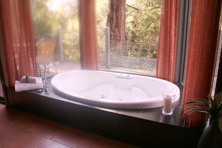Spa in bay window with bushland views - Heavenly Retreat, Halls Gap - Halls Gap - rentals