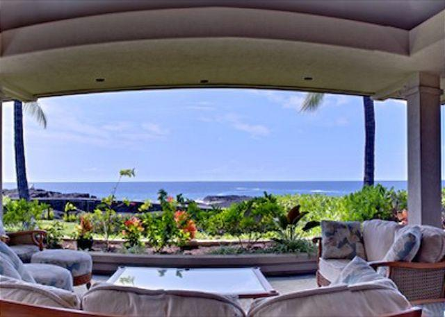 LANAI - Spectacular Oceanfront Home in Kona Bay Estates #23 steps to Keiki Beach-PHKBE23 - Kailua-Kona - rentals