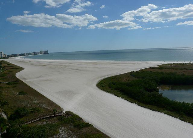 View from Balcony - Front beachfront condo w/ wraparound balcony for unsurpassed ocean views - Marco Island - rentals