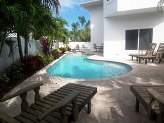 Pool side - Dragonfly Breeze - 140 50th St - Holmes Beach - rentals