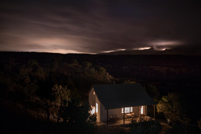 night view - Luxury Eco Retreat in Stunning High Desert Setting - Sandia Park - rentals