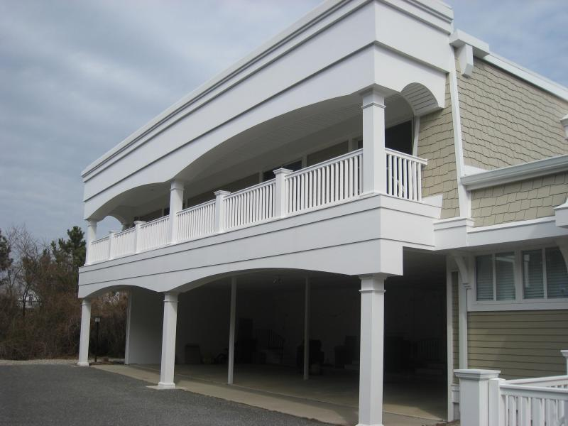 Off street parking under condo. Huge deck! - 2 BR condo with pool 1 block from beach! - Cape May - rentals