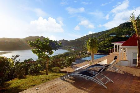 Luminous Summer Breeze with striking hillside & ocean views from infinity pool - Image 1 - Grand Cul-de-Sac - rentals