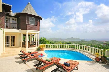 Residence Du Cap - Elegant property has amazing views, guest cottage & pool - Image 1 - Cap Estate - rentals
