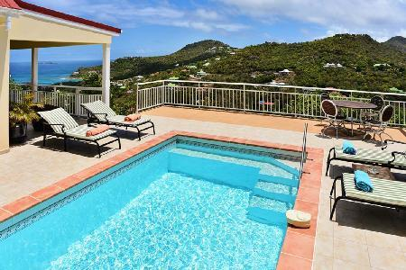Say Hello to romantic Bonjour Villa in the heights of Saint Jean, close to beach - Image 1 - Saint Jean - rentals