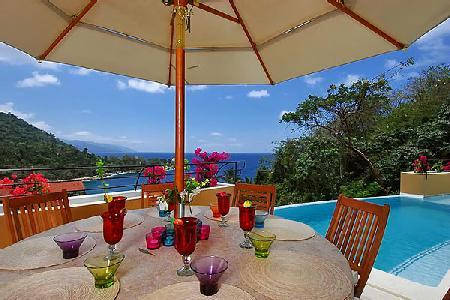 Gated Casa Castelli with sublime ocean view, lush landscaping & infinity pool - Image 1 - Mismaloya - rentals
