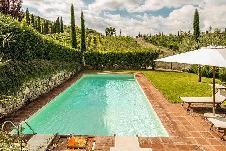 Stone-built farmhouse Villa Campassole boasts countryside views, pool & maid service - Image 1 - Chianti - rentals