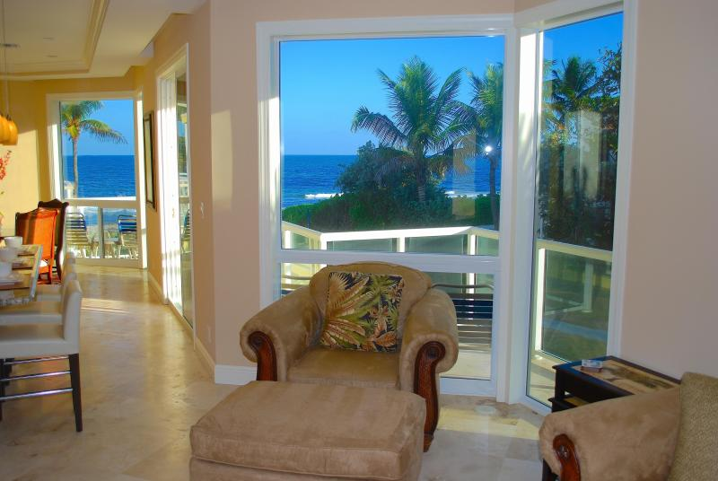 "Spectacular Open Living Area w/Ocean Views... - By The Sea Vacation Villas LLC "" Villa Seaward D"" Direct Oceanfront + Htd Pool - Lauderdale by the Sea - rentals"