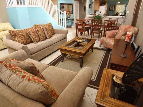 Living Area - EI6P8451SKC Luxury 6 Bedroom Rental Villa Perfect for Orlando Stay - Orlando - rentals