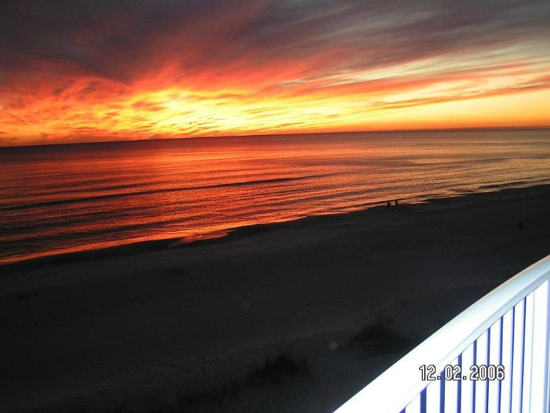 Great sunsets from our balcony - FREE BEACH SERVICE (seasonal)-2 KING BEDS plus Q sleeper-Ocean Villa 504 -5th FL - Panama City Beach - rentals