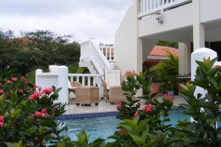 outdoor stairs - Wonderful Villa with pool in a tropical garden - Curacao - rentals