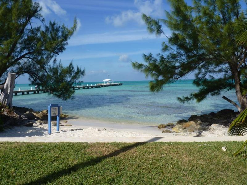 Our beautiful beach just steps from our screened Lanai. - Beachfront Rum Point Retreat #31 Condo Ground Flr - Rum Point - rentals