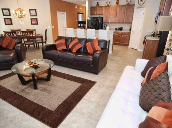 Living Area - BV4P1021MB 4 BR Super Lux Pool Home with Modern Amenities - Orlando - rentals