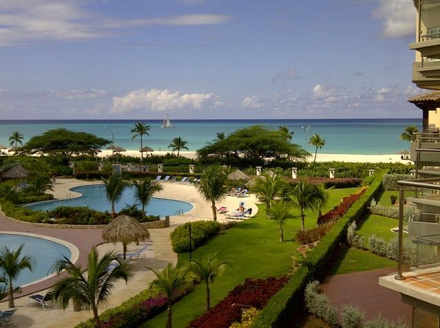 Breathtaking ocean view from your balcony terrace. - Bella Vista Two-bedroom Condo - BC356 - Eagle Beach - rentals