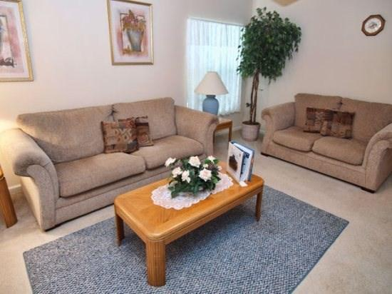 Living Area - WNH4P15828AGC Best Deal 4 BR Home Close to Orlando Attractions - Orlando - rentals
