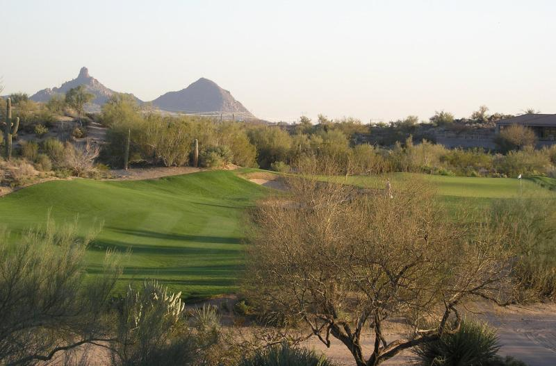 View from Private Balcony - Luxury Vacation Villa on Golf Fairway, Great Views - Scottsdale - rentals