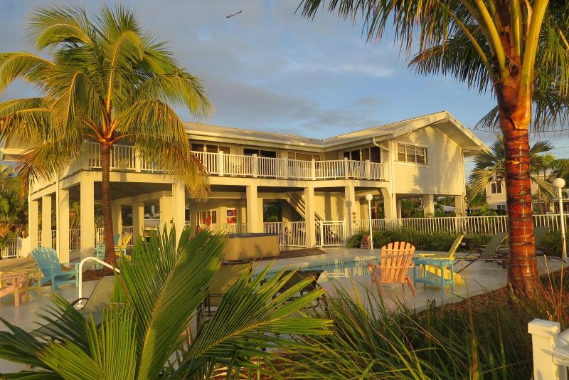 Water surrounds home on 3 sides with deck and pool - Oceanfront Luxurious Home with Deep Water Canal & Heated Pool - Marathon - rentals