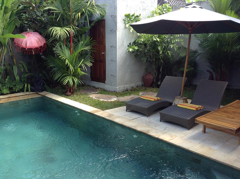 Relax in or by the pool. - Villa Palm Kuning - Gorgeous new 2br villa in Ubud - Sayan - rentals