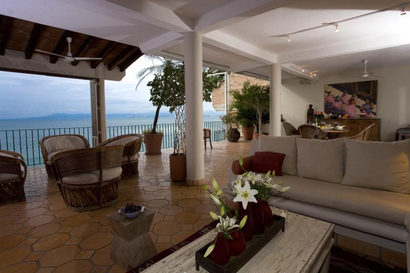 Sala / Living Room with View - Casa Perezoso - Beach House on Playa Los Muertos - Puerto Vallarta - rentals