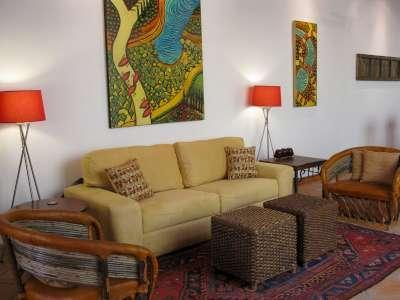 living room  with owners artwork  - Elegant Colonial With 2 Master Suites - San Miguel de Allende - rentals