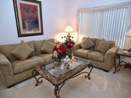 Living Area - CM5P1215WWW 5 BR Fabulous Pool Home Close to Disney - Orlando - rentals
