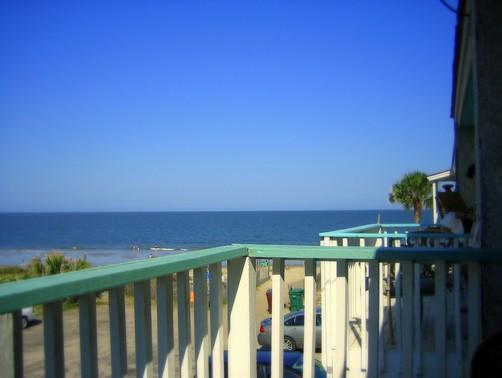 view from master bedroom - Ocean view perfection: 3 decks+ocean front patio - Tybee Island - rentals