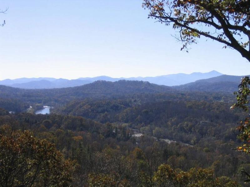 Mountain View and French Broad River from back deck - Asheville Long Range Mountain/River Views HOT TUB - Asheville - rentals