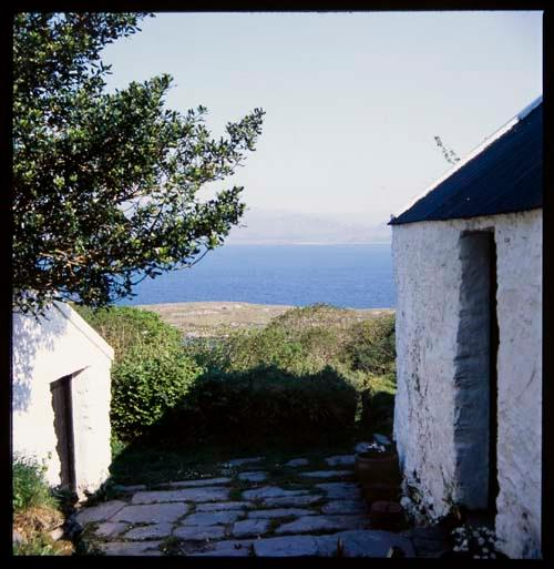 entrance to Kitchen with view - Unique Seafront Property in Ireland's  Southwest - County Cork - rentals