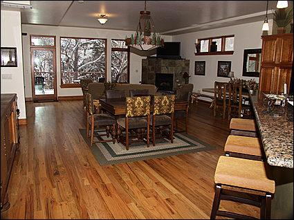 Great Room - Kitchen, Dining, Living, Private Balcony - Beautiful  End-Unit Home on Eagle River - Riverwalk Shops, Restaurants, Movie (17332) - Edwards - rentals