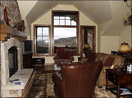 Living Area - Sleeper Sofa, TV, Gas Fireplace, Private Balcony Views - Luxury Ski-In/Ski-Out Penthouse - New - Beaver Creek Landing (20407) - Avon - rentals
