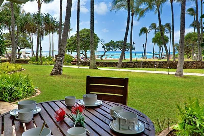 Lanai and View - Ocean View Beachlevel 4-Bdrm Villa Turtlebay - Kahuku - rentals