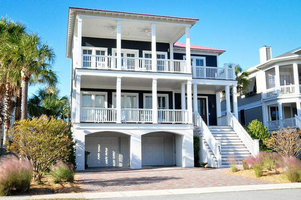Front of House - Gorgeous, 5 Bedroom, Ocean View & Heatable Pool! - Isle of Palms - rentals