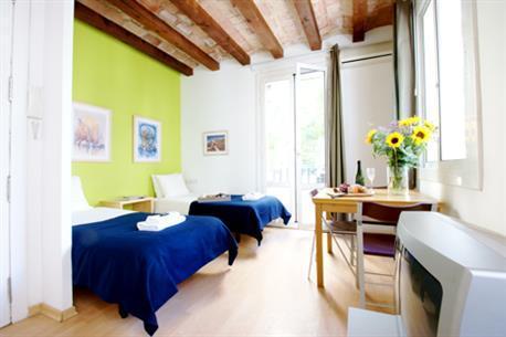 Barceloneta Beach Studio A - Image 1 - Barcelona - rentals