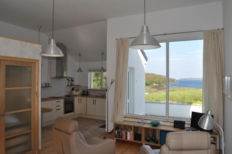 in studio looking towards picture window - Quality Studio Apartment with stunning loch views - Portree - rentals