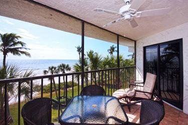 Another beautiful view.  It's wonderful to relax on the lanai and watch the view. - Direct Gulf Front Completely Remodeled - E36 - Sanibel Island - rentals