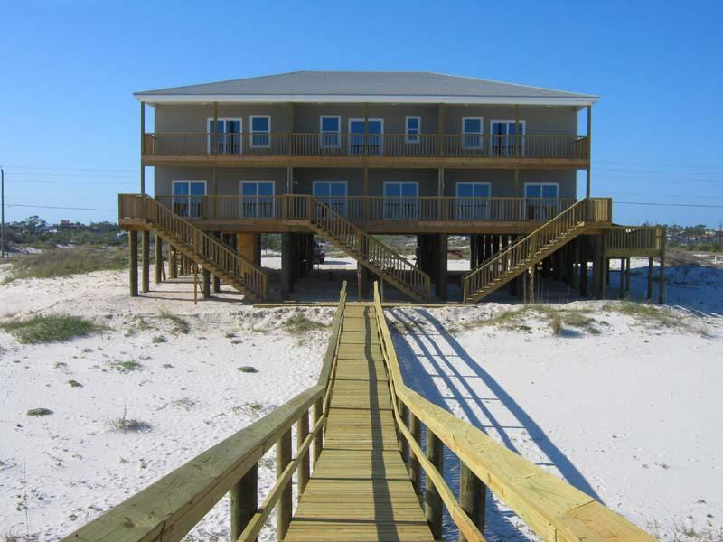 view from the water side - 4-12 Bdrm Beach Triplex -Gulf Of Mexico, Pen,fl - Pensacola - rentals
