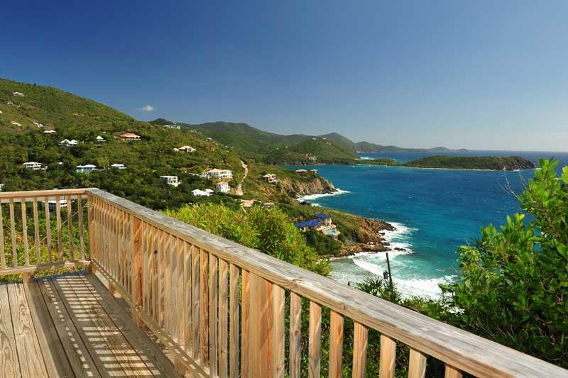 View from the deck of the east bedroom - Secluded Getaway with Breathtaking Views - Cruz Bay - rentals