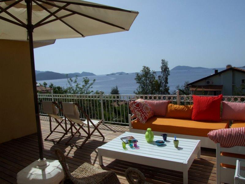 Balcony Villa Mimosa, away from it all - Lovely seaside Villa Mimosa, breathtaking view! - Kas - rentals