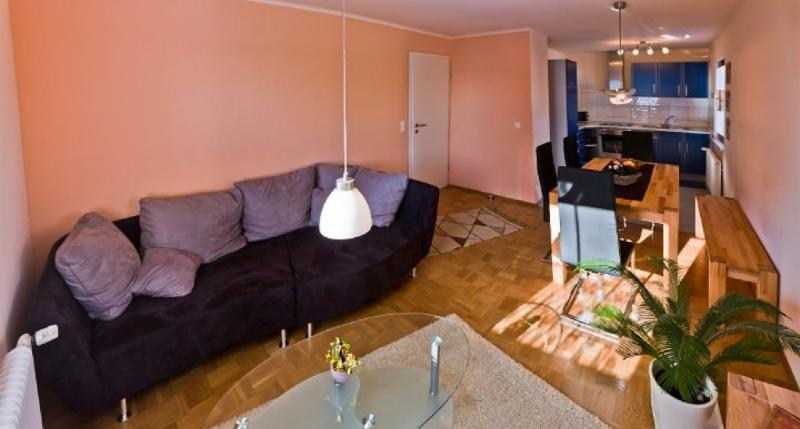 Living Room (1) - LLAG Luxury Vacation Apartment in Lossburg - 861 sqft, quiet setting, playset in yard, family-oriented… - Lossburg - rentals