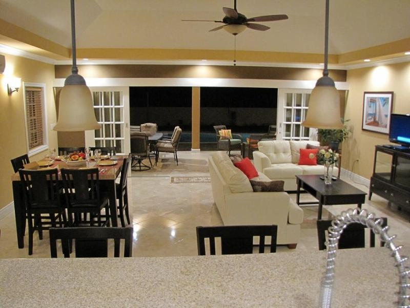 Colibri Great Room viewed from kitchen - 3BR villa/pool/24 hr guard gated community/Tobago - Canaan - rentals
